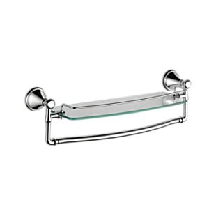 Cassidy 18″ Glass Shelf with Removable Bar