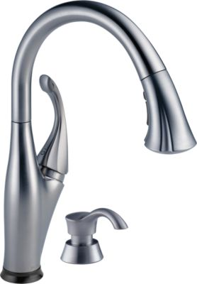 Superieur Addison Single Handle Pull Down Kitchen Faucet With Touch2O Technology And  Soap Dispenser