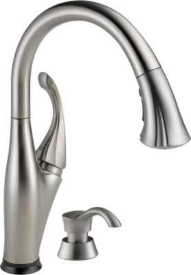 Addison® Single Handle Pull Down Kitchen Faucet With Touch2O Technology And  Soap Dispenser