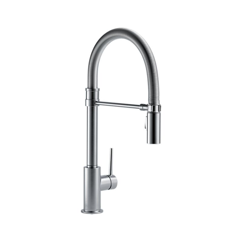 Trinsic Pro Single Handle Pull Down Kitchen Faucet With Spring Spout
