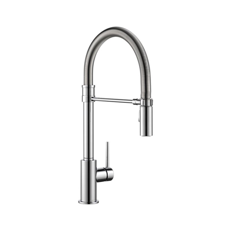 down faucet spray faucets dayton with front spout spring kitchen chrome pull
