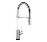 Single Handle Pull-Down Spring Spout Kitchen Faucet with Touch2O Technology