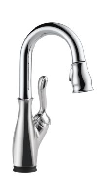 Leland Single Handle Pull-Down Bar/Prep Faucet with Touch2O Technology