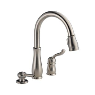 Leland® Single Handle Pull-Down Kitchen Faucet with Soap Dispenser
