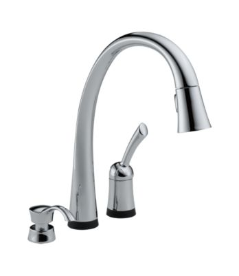 Pilar Single Handle Pull-Down Kitchen Faucet with Touch2O® Technology and Soap Dispenser