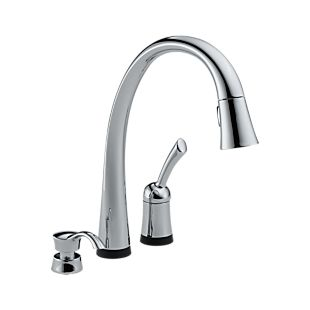 Pilar® Single Handle Pull-Down Kitchen Faucet with Touch2O® Technology and Soap Dispenser