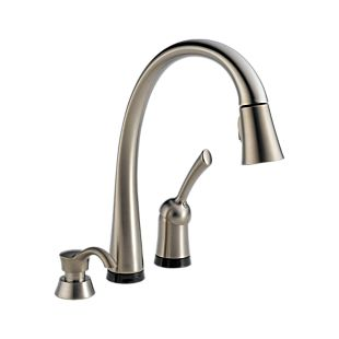 Pilar Single Handle Pull-Down Kitchen Faucet with Touch2O Technology and Soap Dispenser
