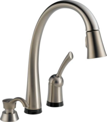 Pilar® Single Handle Pull Down Kitchen Faucet With Touch2O Technology And  Soap Dispenser