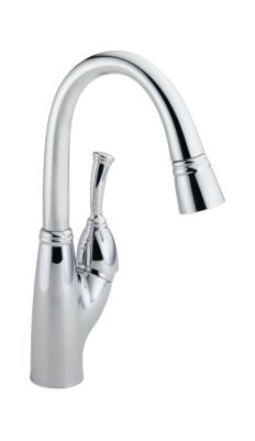Allora Single Handle Pull-Down Bar/Prep Faucet