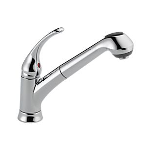 Foundations Single Handle Pull-Out Kitchen Faucet
