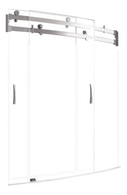 Classic 400 60x30 Curved Bathtub Shower Door