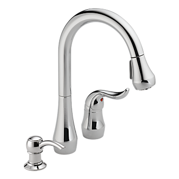 Single Handle Kitchen Pull-Down with Soap Dispenser