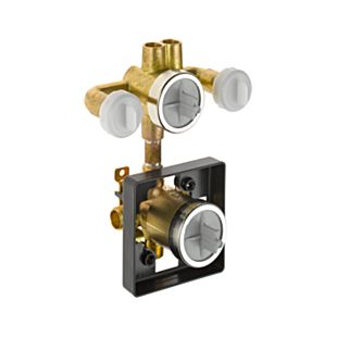 Delta Pre-Plumbed Rough-In Valve with Extra Outlet (6-Function)