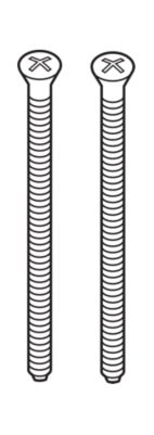 Delta Escutcheon Trim Screws (2) - Extra Long