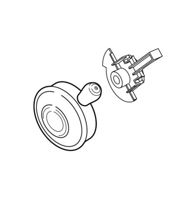 Delta Single Metal Lever Handle - Temperature Knob and Cover