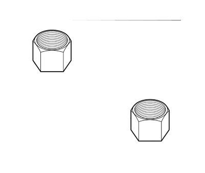 Delta Nuts - (2) - Coupling