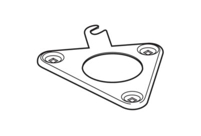 Delta Bracket - Toilet Tank, Flexible Supply Line