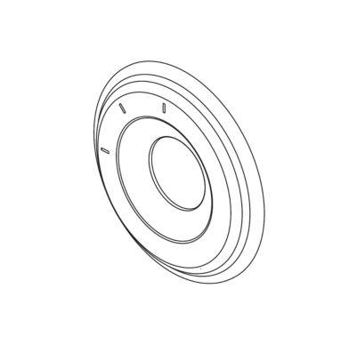 Delta 3 Function Diverter Escutcheon