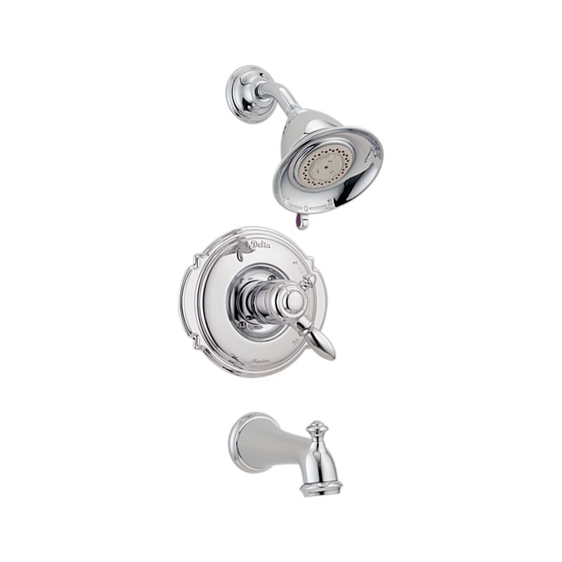 monitor faucet faucets shower trim with lever diverter kit push button handles delta and
