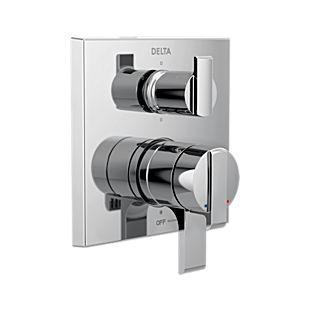 Delta Angular Modern Monitor 17 Series Valve Trim with 6-Setting Integrated Diverter