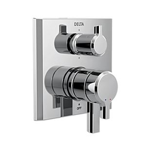 Pivotal 2-Handle Monitor 17 Series Valve Trim with 6-Setting Diverter