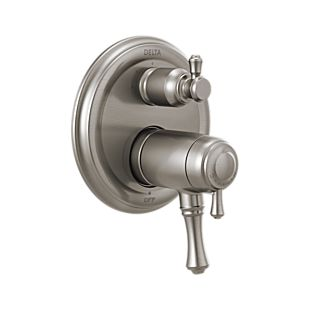Delta Traditional 2-Handle TempAssure 17T Series Valve Trim with 3-Setting Integrated Diverter