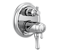 Traditional 2-Handle TempAssure 17T Series Valve Trim with 6-Setting Integrated Diverter