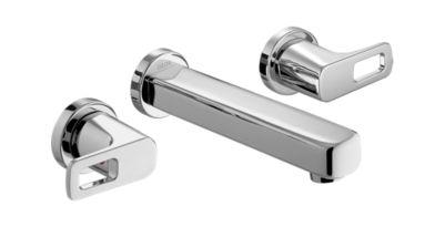 Ixa Flex Two Handle Wall Mount Lavatory Faucet Trim