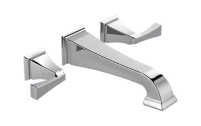 Dryden Two Handle Wall Mount Lavatory Faucet Trim