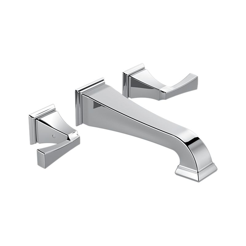 T3551LF-WL Dryden™ Two Handle Wall Mount Lavatory Faucet Trim : Bath ...