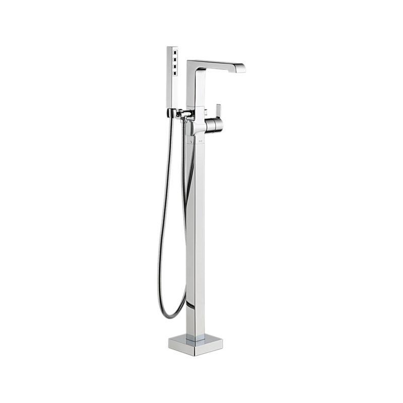 T4767-FL Ara Floor Mount Tub Filler Trim : Bath Products : Delta ...