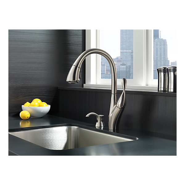 19932 Sssd Dst Single Handle Pull Down Kitchen Faucet