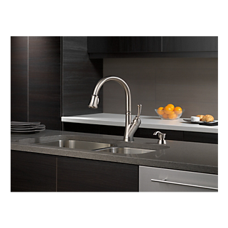 Delta Savile Stainless Kitchen Faucet Model  Sssd Dst