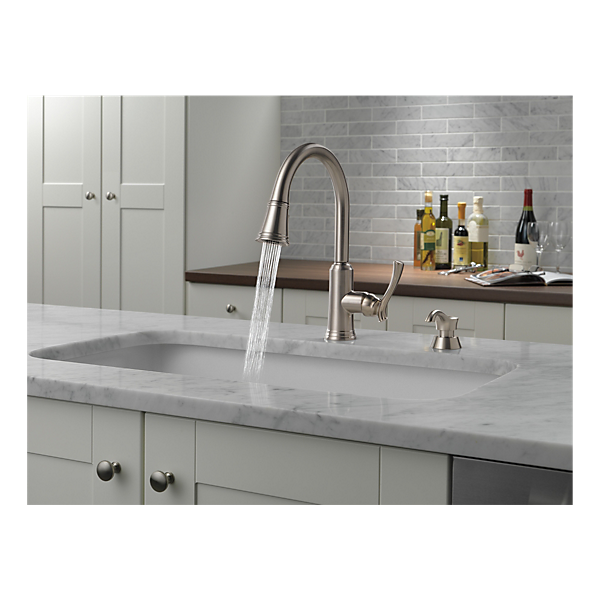 19963 Sssd Dst Pull Down Kitchen Faucet With Soap Dispenser