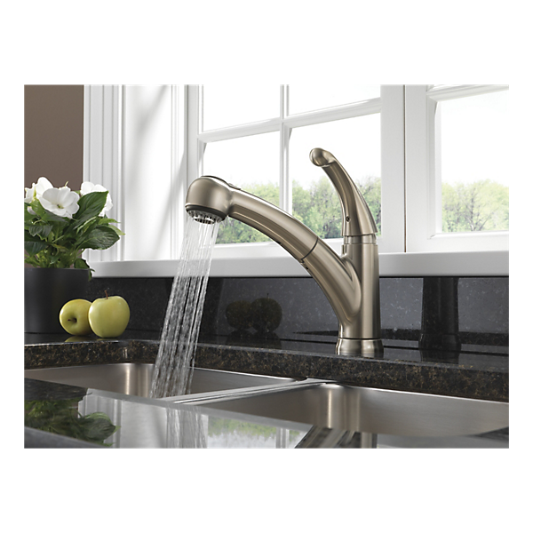 467 Ss Dst Single Handle Pull Out Kitchen Faucet