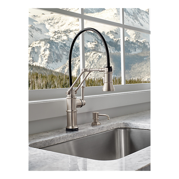 single handle articulating kitchen faucet with smarttouch