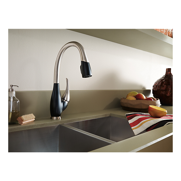 9158 Sb Dst Single Handle Pull Down Kitchen Faucet