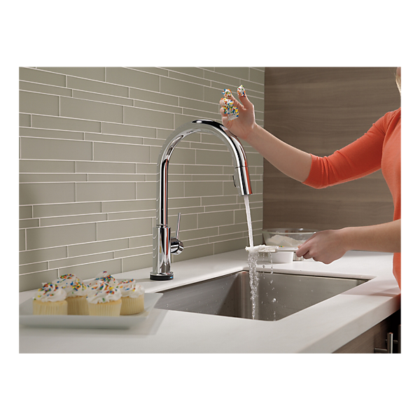 9159t Dst Single Handle Pull Down Kitchen Faucet With