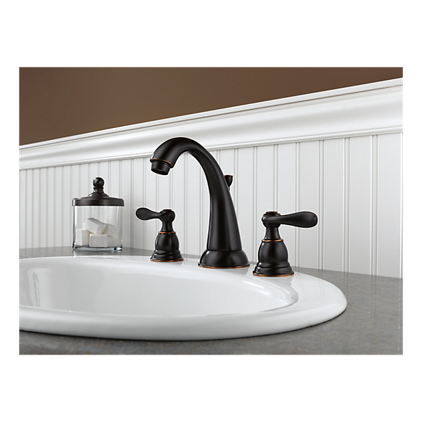 Delta Windemere Widespread Bathroom Faucet With Double Lever Handles Reviews: Two Handle Widespread Lavatory Faucet