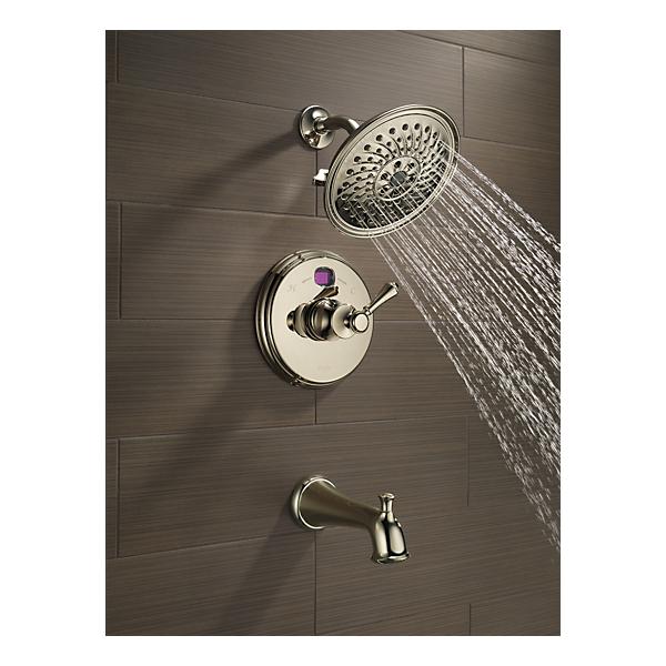 t14400 pnt2o traditional 14 series temp2o tub and shower trim. Black Bedroom Furniture Sets. Home Design Ideas