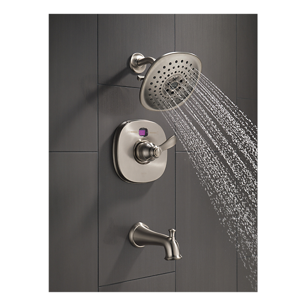t14403 sst2o transitional 14 series temp2o tub and shower trim. Black Bedroom Furniture Sets. Home Design Ideas