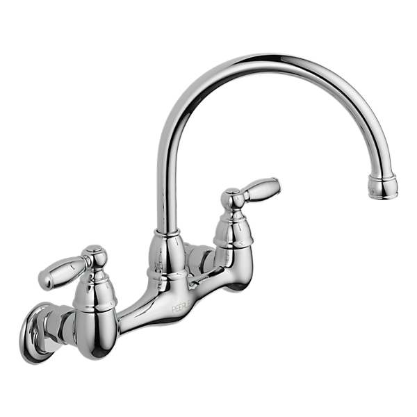 P299305lf Two Handle Wall Mounted Kitchen Faucet