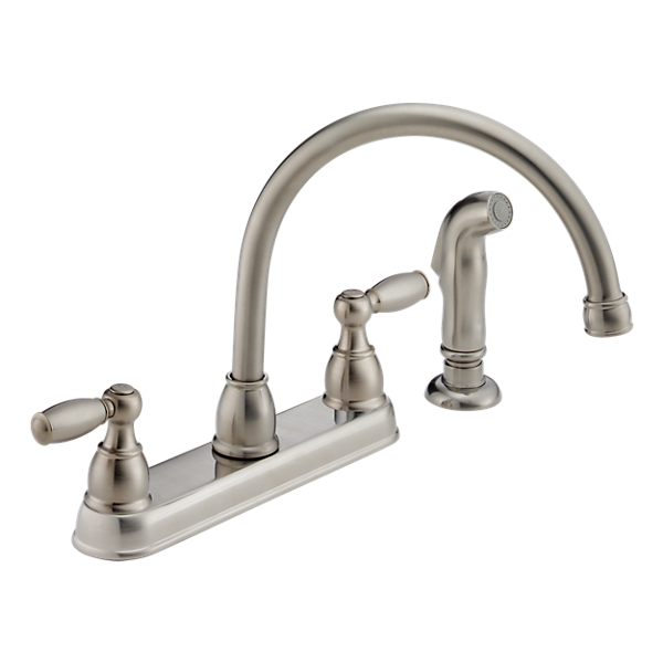 P99575 Ss Two Handle Kitchen Faucet