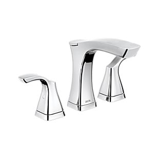 Tesla Two Handle Widespread Bathroom Faucet - Metal Pop-Up