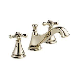 Cassidy Two Handle Widespread Bathroom Faucet - Low Arc Spout - Less Handles