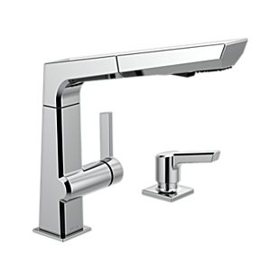 Pivotal Single Handle Pull Out Kitchen Faucet