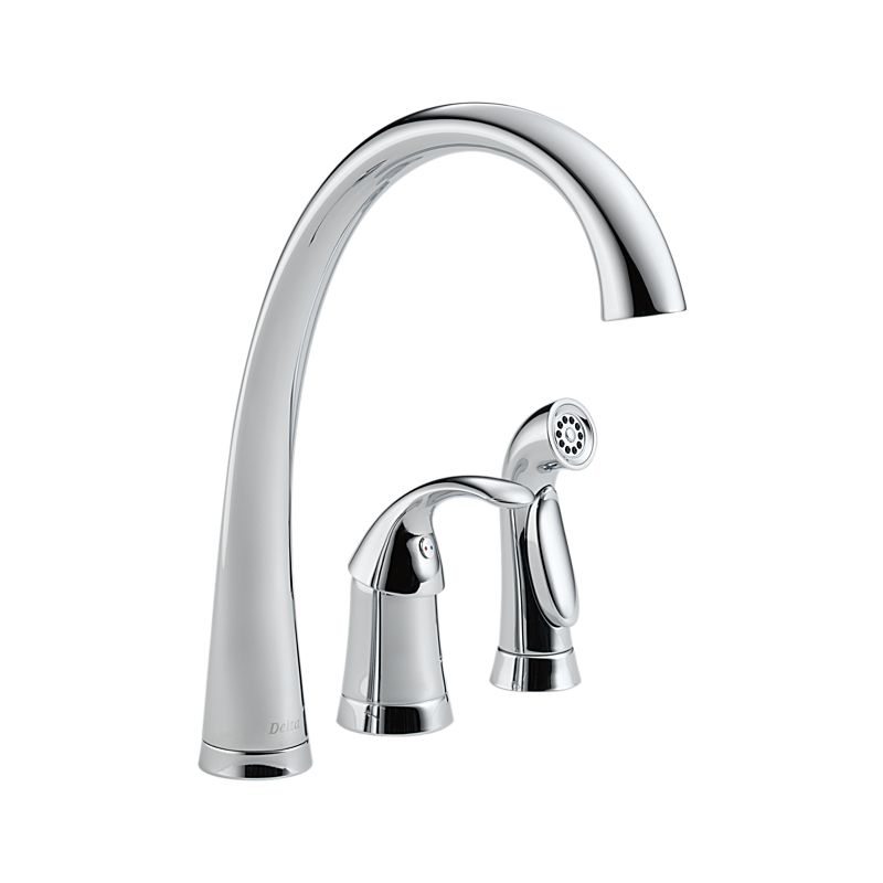 4380 Dst Pilar Single Handle Kitchen Faucet With Spray
