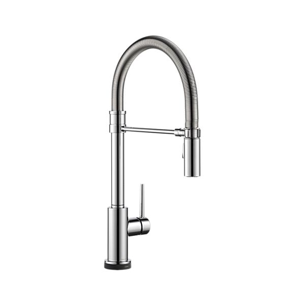 Single Handle Pull-Down Spring Spout Kitchen Faucet with Touch<sub>2</sub>O Technology
