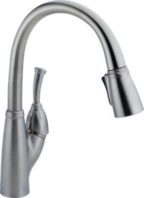 989 ar dst allora single handle pull down kitchen faucet kitchen rh deltafaucet ca