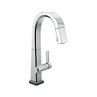 Pivotal Single Handle Pull Down Bar/Prep Faucet With Touch<sub>2</sub>O Technology
